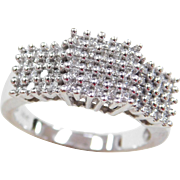 Vintage 14k White Gold .30 ctw Diamond Ring