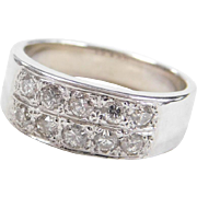 Vintage 14k White Gold .30 ctw Diamond Band Ring