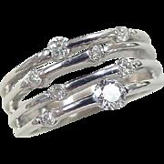 Vintage 14k White Gold .335 ctw Diamond Ring