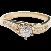 Vintage 14k Gold .33 ctw Diamond Engagement Ring