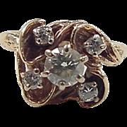 Vintage 14k Gold .60 ctw Diamond Ring