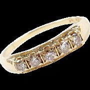 Vintage 14k Gold .42 ctw Diamond Wedding Band Ring