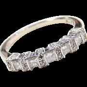 .50 ctw Diamond 14k White Gold Wedding Band / Stacking Ring