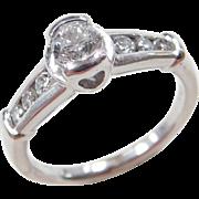 Vintage Platinum .56 ctw Diamond Ring