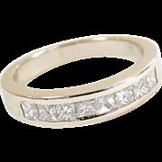 Vintage 14k White Gold .56 ctw Diamond Wedding Band Ring