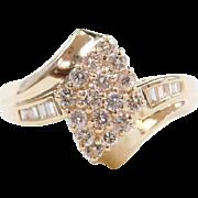 Vintage 14k Gold .58 ctw Diamond Ring