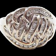 Vintage 10k White Gold .60 ctw Diamond Ring