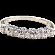 .62 ctw Diamond 14k White Gold Wedding Band / Stacking Ring