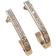 Vintage 14k Gold .70 ctw Diamond Earrings