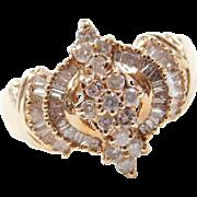 Vintage 10k Gold .75 ctw Diamond Ring