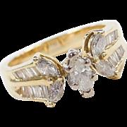 Vintage 14k Gold .78 ctw Diamond Ring