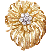 Vintage 18k Gold .84 ctw Diamond Pin / Brooch