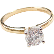 14k Gold .85 Carat Diamond Solitaire Engagement Ring