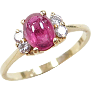 Vintage 18k Gold .88 ctw Ruby and Diamond Ring