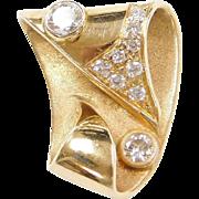 Custom .99 ctw Diamond Slide Pendant 14k Yellow Gold