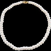 "Vintage 14k Gold Strand of Cultured Pearls Necklace ~ 18"""