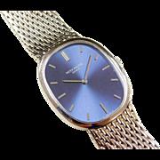 1970's Patek Philippe Blue Ellipse 18k White Gold Watch