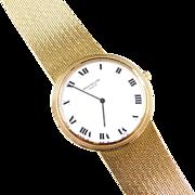 1970's Patek Philippe Calatrava White Face Watch 18k Gold