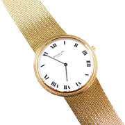 1970's Patek Philippe Calatrava White Face Watch 18k Gold