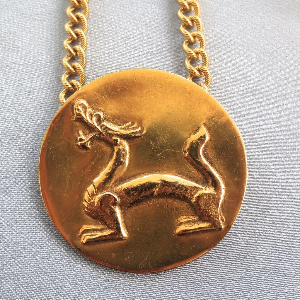 vintage alva museum replica gilt mythological animal