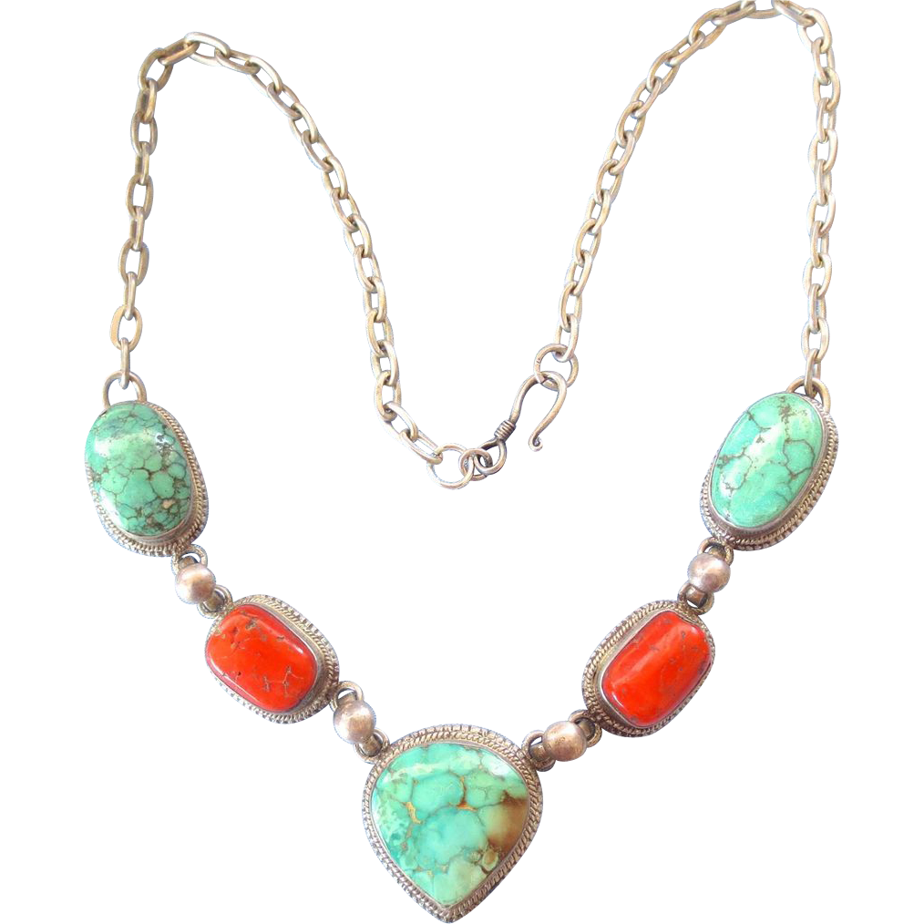 Vintage Turquoise Necklace 46