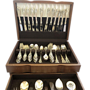 Grand Baroque Sterling Flatware, Wallace Silver - 89 pcs.-SALE SALE SALE - Red Tag Sale Item