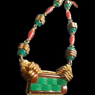 Art Deco Czechoslovakian Necklace