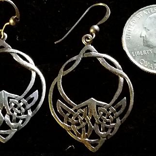 Celtic Knot dangle Sterling Silver Earrings