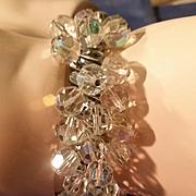 AB Crystal Beads Stretch Accordion Bracelet