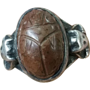 Egyptian motif signed Carl Schon Sterling Ring