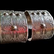 Pr South Western Silver Cuff Bracelets