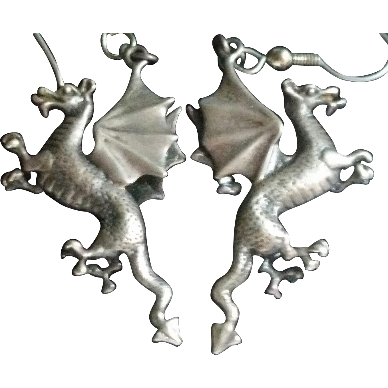 Sterling Silver Dragon Earrings SUPER COOL!