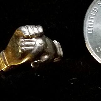 Silver Gimmel Claddagh Ring