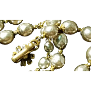 Miriam Haskell Single Strand of Faux Pearls