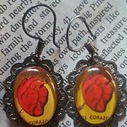 Sterling Earrings w/ Heart Cardio