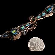 Liz Palacios S.F. Dragonfly Brooch Swarovski Crystals