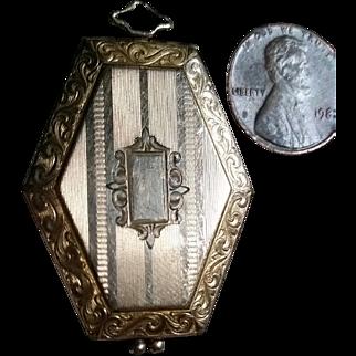 Early 1900 Engraved Hexagonal Locket