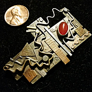 Maggi Debaecke Mixed Metal studio brooch