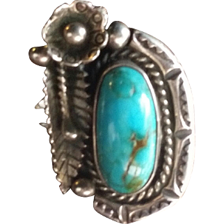 Navajo Silver & Turquoise Ring