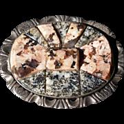 Victorian Scotch Agate Pebble Brooch / Pendant