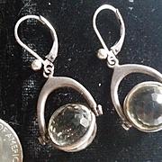 Pools of Light Earrings Sterling Silver