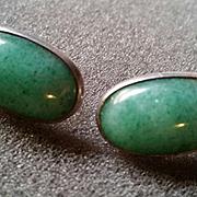 Sigi Mexican Earrings w/ Green Stones