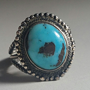Turquoise & Silver Turquoise Ring Beautiful
