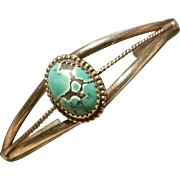 Turquoise & Silver Cuff Bracelet