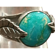 Silver & Turquoise South Western Ring