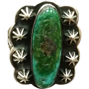 Older Silver & Turquoise Ring Navajo