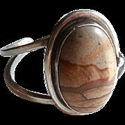 Sterling Silver Desert Agate Bracelet