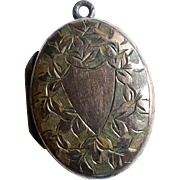 Victorian G.F. Engraved Locket