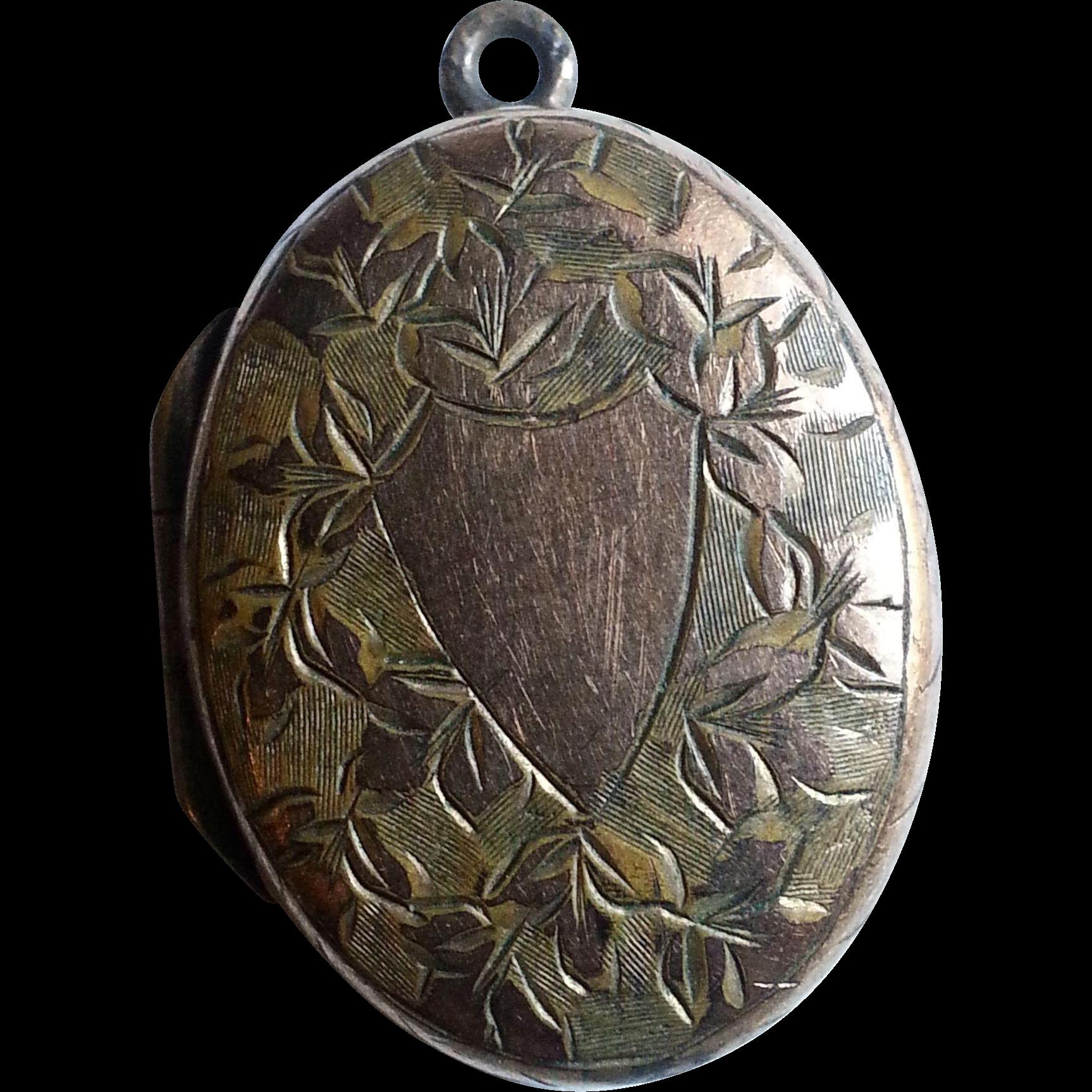 Victorian G.F. Engraved Locket