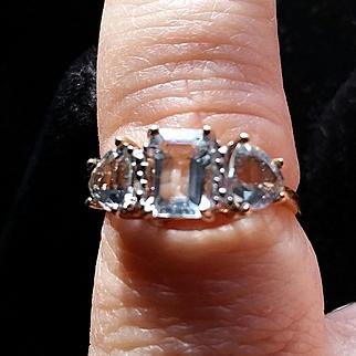 10k Yellow Gold 3 Stone Ring